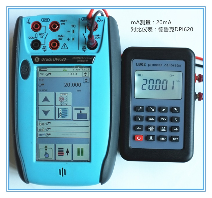 LB02 Resistance Voltage Meter 4-20mA 0-10V/mV Signal Generator Source Thermocouple PT100 Temperature Process Calibrator Tester