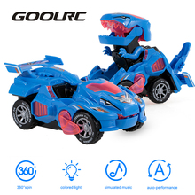 Car-Toys Dinosaur Electric Spin with Light Music GOOLRC Cars Pull-Back