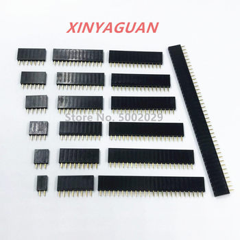 2.54mm Pitch Single Row Female 2~40P PCB socket Board Pin Header Connector Strip Pinheader 2/3/4/6/10/12/16/20/40Pin For Arduino - sale item Electrical Equipment & Supplies