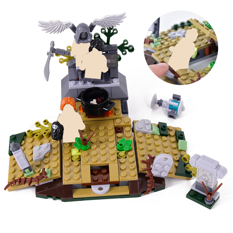 New 208pcs The Rise Of Voldemort Harri Movie Building Blocks Bricks Model Compatible With 75965 Toys For Children