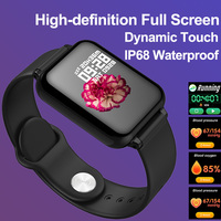 Timewolf B57 Smart Watch Men Blood Pressure Waterproof Smartwatch IP68 Men Color Screen Smart Watch for Android Phone Iphone IOS|Smart Watches|Consumer Electronics -
