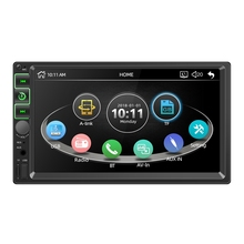 Radio Multimedia con Bluetooth para coche, Radio con reproductor Mp5 de 7 pulgadas, 2 Din, Fm, Aux, Usb, tarjeta Sd, reproductor Mp5