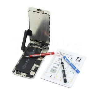 Image 2 - 17 Pcs Magnetische Schroef Mat Voor Iphone 11 Promax X 8P 8 7 7P 6 6S 6P 6SP 5 5 S 4 S 4 Iphone Reparatie Werk Met Kleurrijke Schroef Locatie