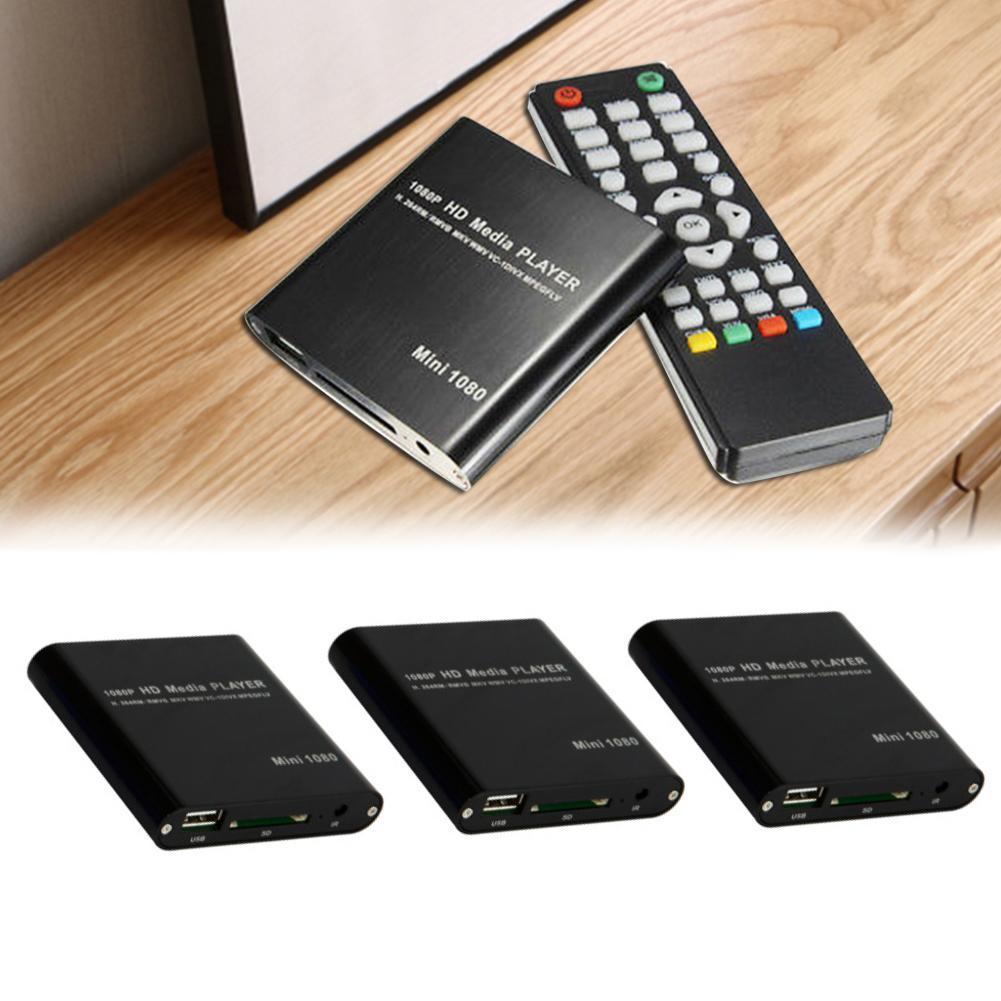 Mini Media Player 1080P Mini HDD Media Box TV Box Video USB SDs HD MKV AV HDMI Multimedia Player Full HD