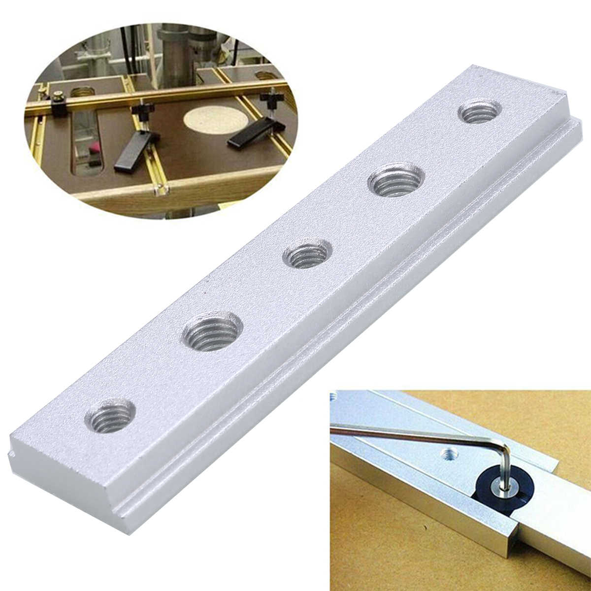1Pcs Aluminium Alloy T-Slot T-Track Miter Track Jig Fixture For Router Table Woodworking Tools 100mm