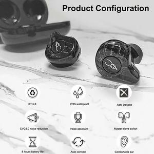 Image 2 - Newest Marble Series Sabbat E12 Ultra TWS Qualcomm Bluetooth 5.0 Earphone Support Aptx Wireless Earphones HiFi Stereo Earbuds
