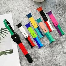 Cinturino in Silicone per cinturino Apple Watch 44mm 40mm nero unità/Prid smartwatch cinturino Sport bracciale iWatch 38mm 42mm 3 4 5 6 se