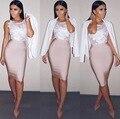 11 Цвета однотонный телесный цвет размера плюс XL XXL пикантные летние облегающее вечерние бандажные юбки для женщин 2021 Белый черного, бежевог...