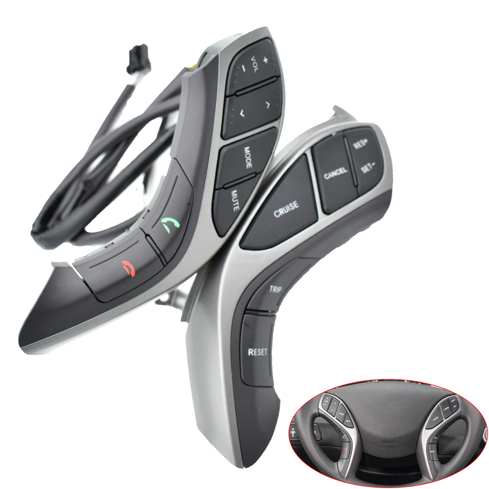 For Hyundai Elantra 2012 2013 2014 MT Multifunction <font><b>Control</b></font> Steering Wheel Buttons volume audio cruise function <font><b>switch</b></font> image