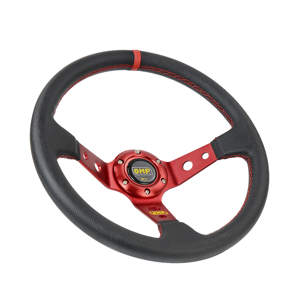 Image 4 - 14inch 350MM OMP Steering Wheel PVC Leather Steering Wheel OMP Steering Wheels Deep Corn Dish Wholesale PQY SW22-in Steering Wheels & Steering Wheel Hubs from Automobiles & Motorcycles