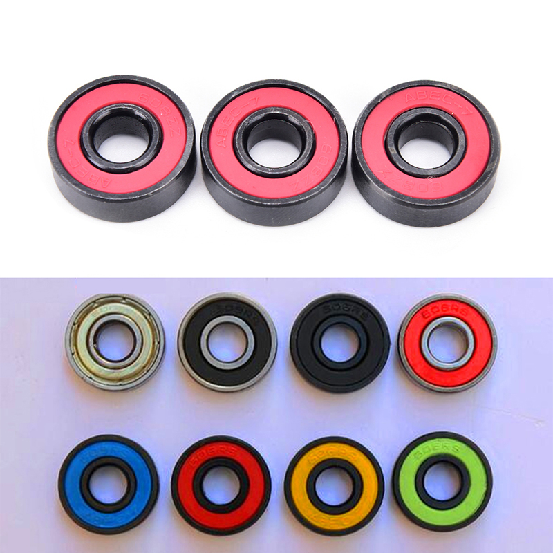 Red 608RS Bearing ABEC-9 Ceramic High Speed Wheel Bearing For Finger Gyro Skateboard Roller Skates