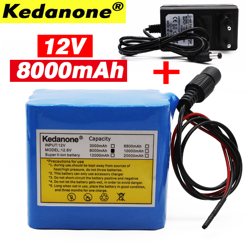 100% New Original <font><b>12V</b></font> <font><b>8AH</b></font> 18650 Lithium <font><b>Battery</b></font> 12.6V <font><b>8Ah</b></font> Li-ion <font><b>Battery</b></font> Suitable for Electrical Equipment image