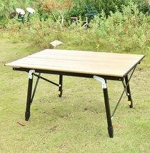Table pliante en aluminium pour Camping, mobilier d'extérieur, rouleau d'œufs, bureau de pique-nique, randonnée, voyage