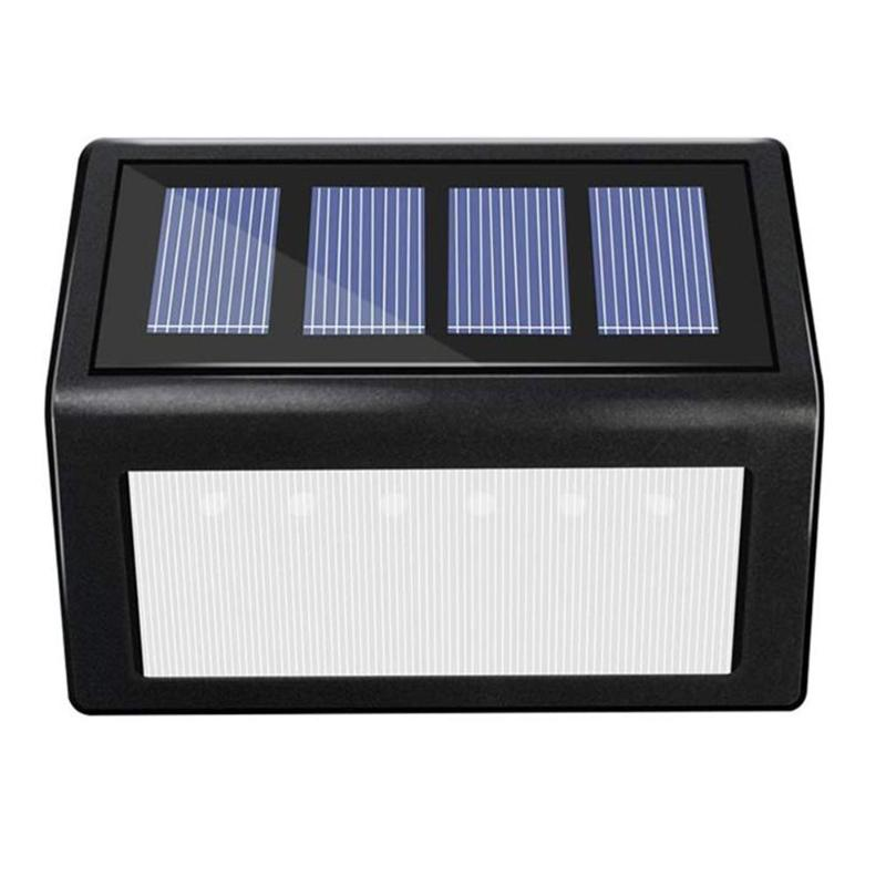 6LED Solar Power Stair Light Waterproof Street Lights Outdoor Garden Wall Lamp Good Earthquake And Impact Resistant Effect