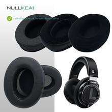 NULLKEAI wymienne wkładki douszne do Philips SHP9500 SHP9500S zestaw słuchawkowy z serii Fidelio ulepszona wygodna poduszka z gąbki