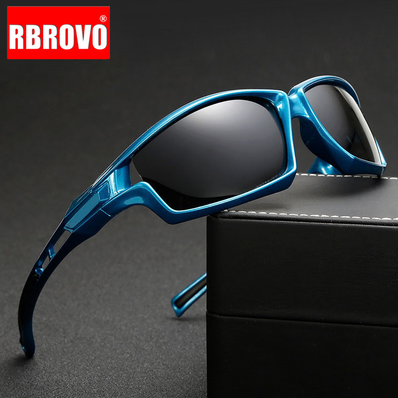 RBROVO 2018 Summer Polarized Sun Glasses Men Outdoor Fishing Driving Sunglasses Brand Designer UV400 Classic Vintage Glasses