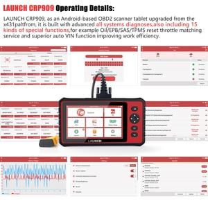 Image 5 - Launch x431 CRP909 전체 시스템 Wifi OBD2 스캐너 DPF TPMS 오일 리셋 PK MK808 OBD ODB2 자동 스캐너 자동차 진단 OBD2 스캔 도구