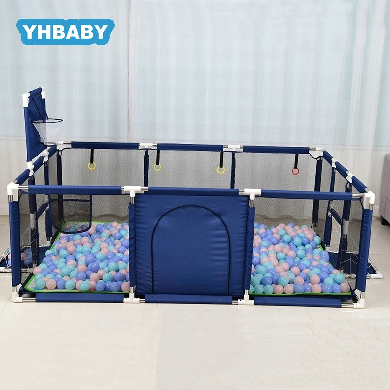 Baby Folding Bed Fence Kids Playpen Ball Pool 0-6 Years <font><b>Children's</b></font> Playpen Oxford Cloth Pool Balls Child Fence image