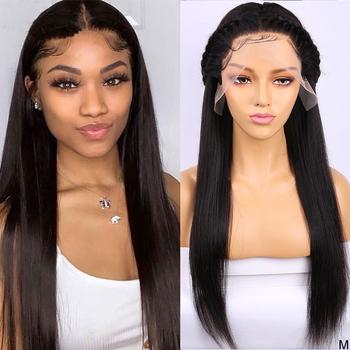 Straight Wig 360 Lace Frontal Wig 13 #215 4 Lace Front Human Hair Wig 13 #215 6 Lace Front Wig HD Lace Frontal Wig Maxine Remy 150 tanie i dobre opinie Średni Proste Koronki przodu peruk Remy włosy Ludzki włos Pół maszyny wykonane i pół ręcznie wiązanej Swiss koronki
