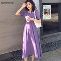 Женское шифоновое платье-макси с высокой талией и квадратным вырезом