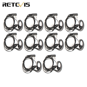 Image 1 - 10pcs 2Pin PTT Earpiece Walkie Talkie Headset For KENWOOD BAOFENG UV 5R BF 888S RETEVIS H777 RT7 For QUANSHENG for PUXING TYT