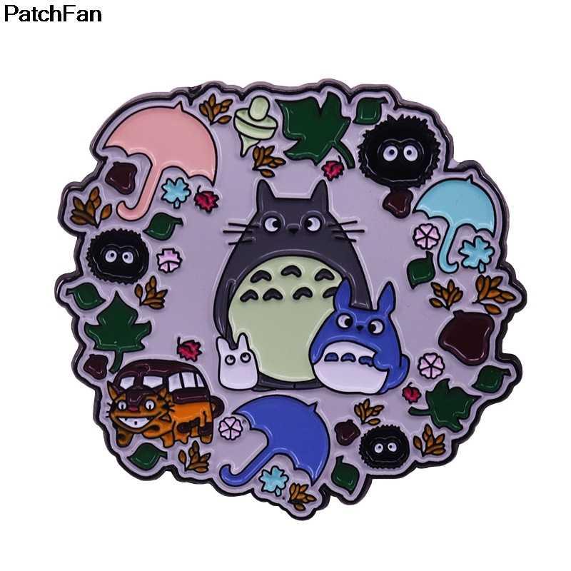 A3721 Patchfan karikatür Stranger şey karakter Pin kalp Kawaii kedi rozeti sırt çantası giysi