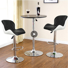 Chair Stools Barber Adjustable Black White Synthetic-Leather Swivel-Bar 2PCS Height Pub-Bar