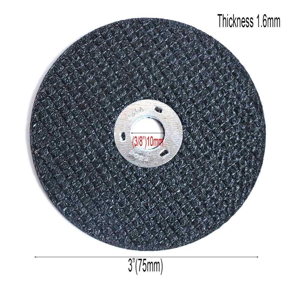 """75mm 3 """"cala żywiczne tarcze tnące odcięte koła do metalu tarcza szlifierska ze stali nierdzewnej frez o grubości 1.6mm"""