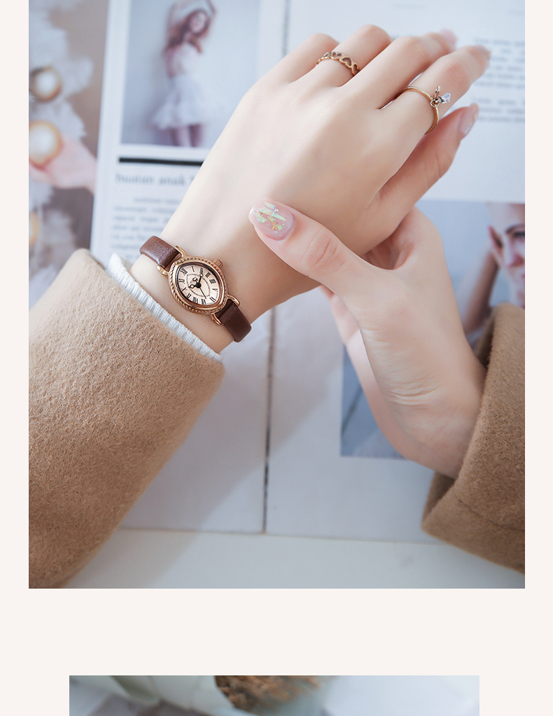 do relógio de couro da pulseira da