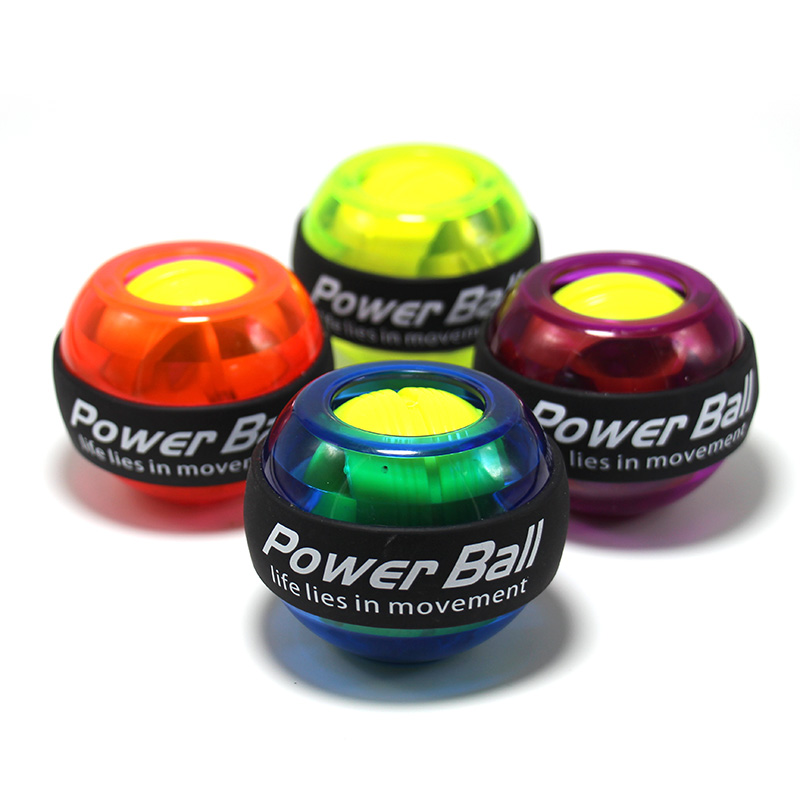 Gyroscope Ball Force Ball Gyro No Power Light Wrist Ball Arm Exerciser Strengthener LED With Speed Device 4 Colors