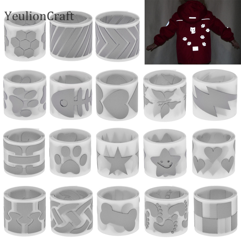 YeulionCraft 3X100CM Reflective Sticker Hot Stamping Foil Heat Transfered Vinyl Film For Garment DIY Iron On Fabric Tapes Crafts