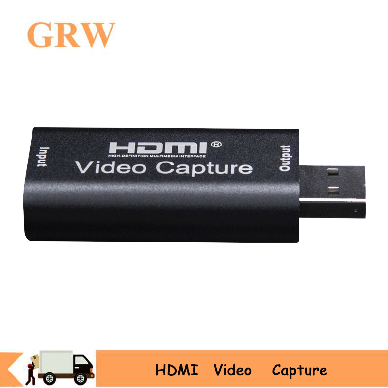 USB HDMI Video Capture Card Grabber Record Box for PS4 Game DVD Camcorder HD Camera Recording Live Streaming Video Audio Capture