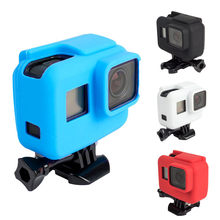 Protective Case Soft Rubber Silicone silica gel Shell Protector Housing Camera Accessories For Gopro Hero 5 Black(China)