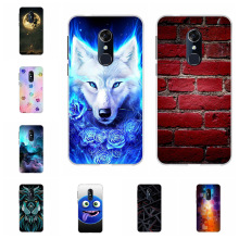 For Alcatel 3 5052Y 5052D Cover Ultra-thin Soft TPU Silicone 3L 5034D Case Lion Patterned Coque Bag
