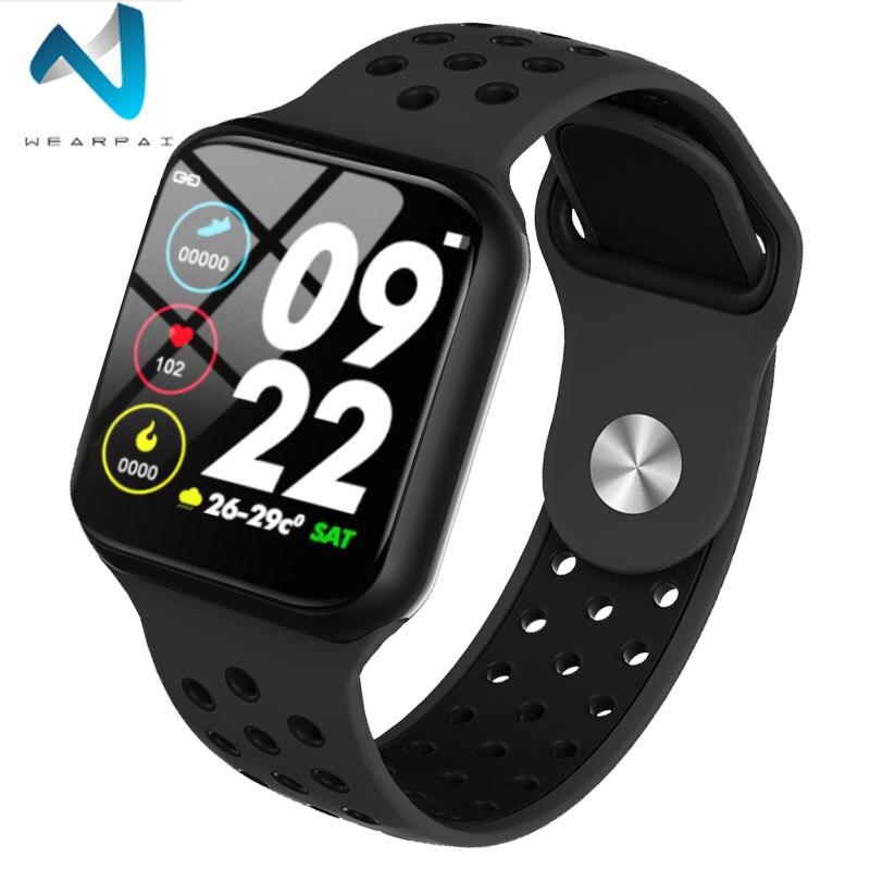 Wearpai f8 relógio inteligente homem pressão arterial à prova  dwaterproof água smartwatch feminino monitor de freqüência cardíaca  fitness rastreador relógio esporte para androidPulseiras inteligentes