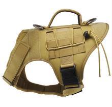 Tactical Dog Vest Harness – Military K9 Dog Training Vest – Working Dog Harness for Medium, Large and XL Dog Sizes