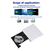 Lecteur DVD portable DVD externe Ultra mince lecteur optique externe USB 3.0 CD DVD ROM graveur pour ordinateur portable de bureau