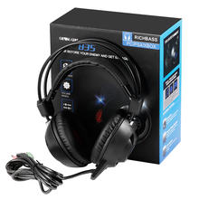 USB LED Game Light Headphone Noise Isolating Over-Ear wired Gaming Headset with Mic for PC/Laptop Gamer(China)