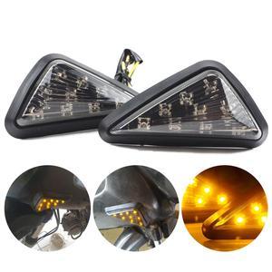 2Pcs 10mm Universal Motorcycle LED Turn Signal Lamp Light Easy Installation Motor Waterproof Turn Signals Blinker 12V