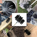 Дымочиститель 12 стержней 1 щетка для чистки набор инструментов Внутренняя стенная подметальная 410*10 мм высокая термостойкость