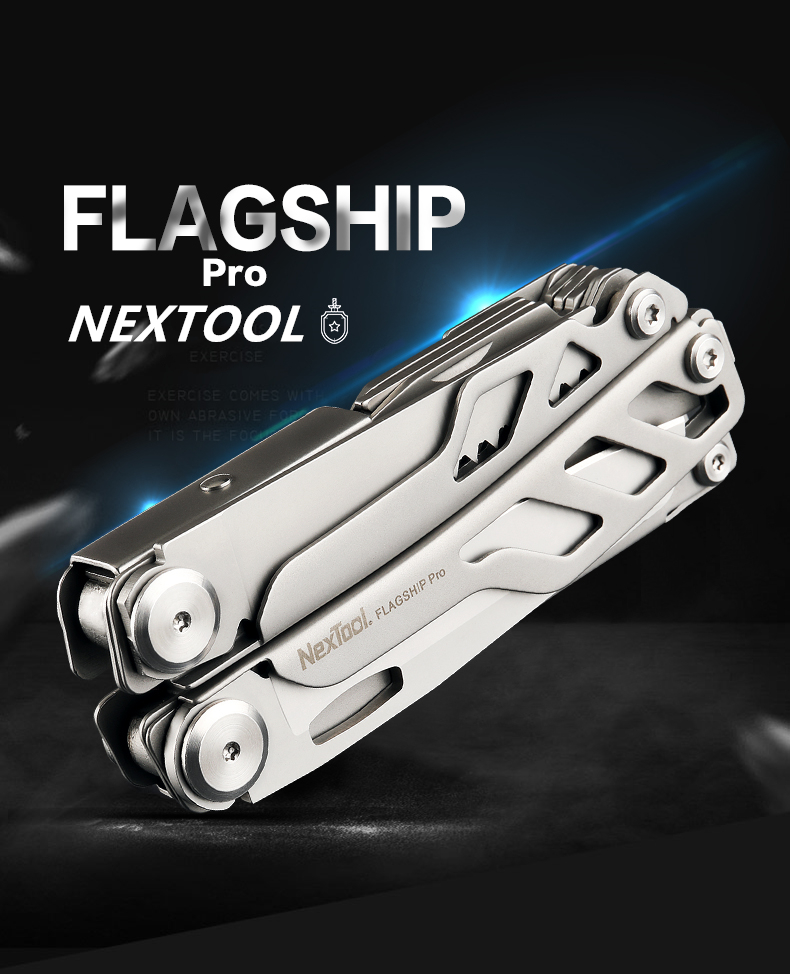 NEXTOOL Flagship Pro 16IN1 multi-function Folding Knife Bottle Opener Screwdriver / Pliers Stainless Steel Army Knives Hunt Camp