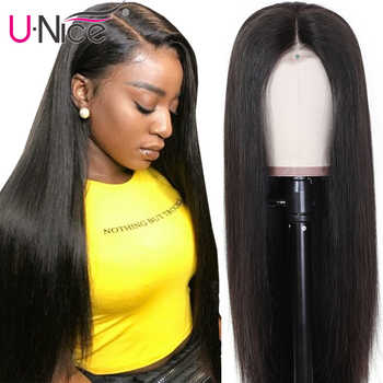 Unice Hair 13x4/6 Transparent Lace Frontal Wig With Baby Hair PrePlucked Brazilian Straight Invisible Lace Front Human Hair Wigs - DISCOUNT ITEM  35% OFF All Category