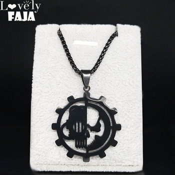 Adeptus Mechanicus 40k 40000 Black Stainless Steel Pendant Necklace Men Army Lot Ork Tau Jewelry gargantilla N3001S03 image