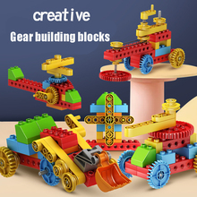 Science and Technic Educational Building BlockToy For ChindrenDIY Mechanical Engineering Gear Set Compatible Duploed Kids Gift