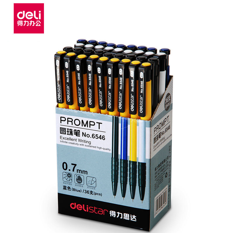 6546 Press Ballpoint Pen Office Blue Ballpoint Student Atom Pen Office Supplies Learning Stationery 1pcs No A Box