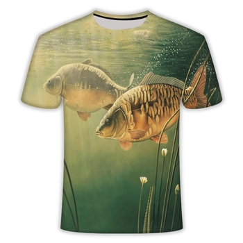 2020 Hot new men leisure 3d printing t shirt, funny fish printed and women tshirt Hip hop print t-shirt top - discount item  45% OFF Tops & Tees