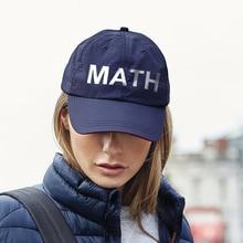 Letter Math Andrew Yang branded baseball caps Unisex Embroidered Adjustable Base