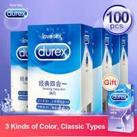 Preservativos Durex condón de goma de látex Natural manga de pene artículos íntimos productos sexuales ultradelgados juguetes sexuales para hombres y hombres