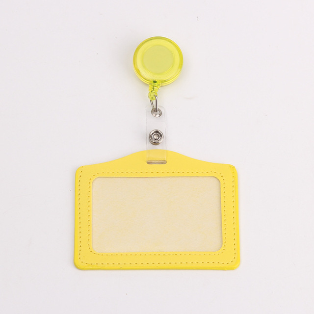 Credit Card Holders With Retractable Badge Reels Clip Name Badge Office School Supplies Identity Badge Protective Card Cover 5