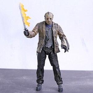 Image 1 - NECA Freddy vs. Jason Jason Voorhees PVC Action Figure Sammeln Modell Spielzeug 18cm